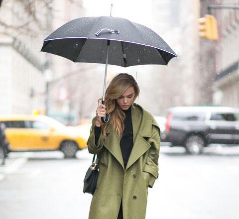 6Ways下雨天造型指南 撑伞的女孩也美丽
