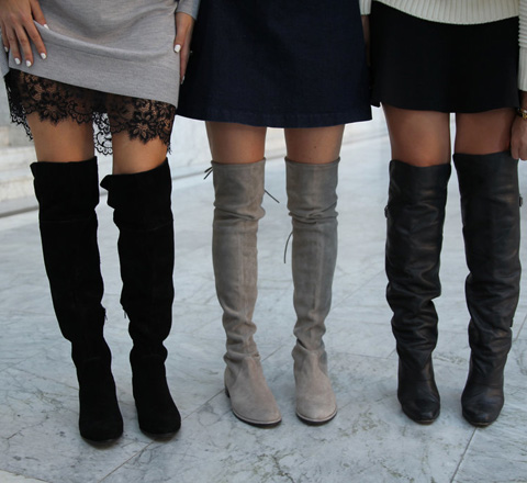 """沒長腿搞不定過膝靴? 不落俗套告訴你""""裸""""着穿最性感"""