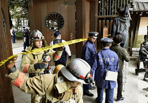 日本靖國神社發生爆炸