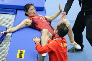 蹦床世锦赛中国队8金收官 何雯娜重大失误无缘决赛