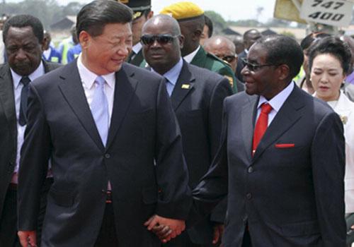 習近平抵達哈拉雷開始對津巴布韋進行國事訪問