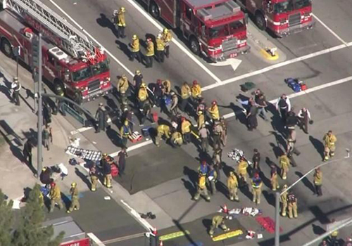 直击加州枪击事件14人遇难现场