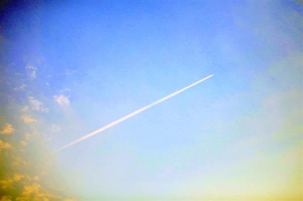 这就是飞机拉线的原理.