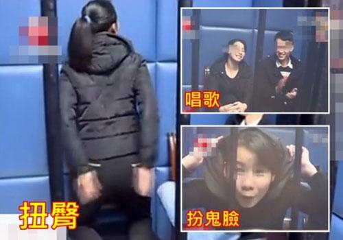 男女涉行騙被扣查 警局表演扭臀