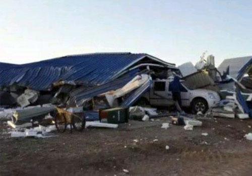 内蒙古一检查站遭暴力袭击现场