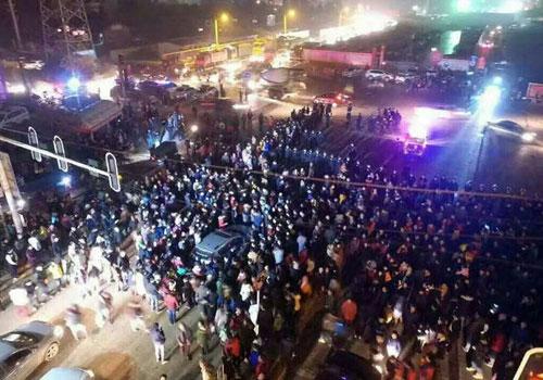 武漢:居民抗議引發衝突現場