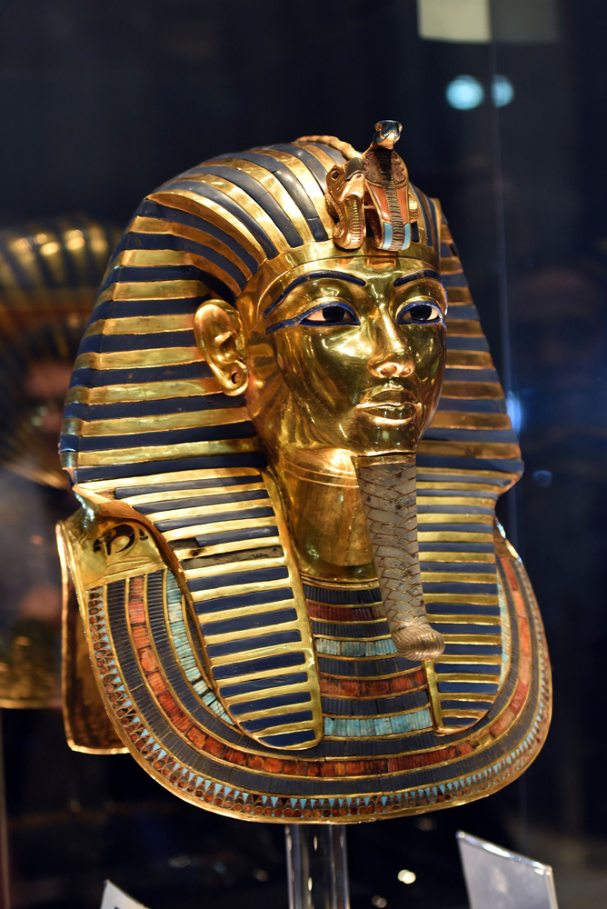 古埃及法老黄金面具终修复图片