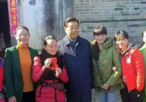 贾庆林现身福建连城