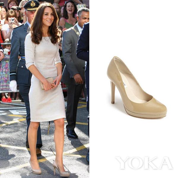 英國凱特王妃穿着L.K.Bennett裸色高跟鞋 價格:£195