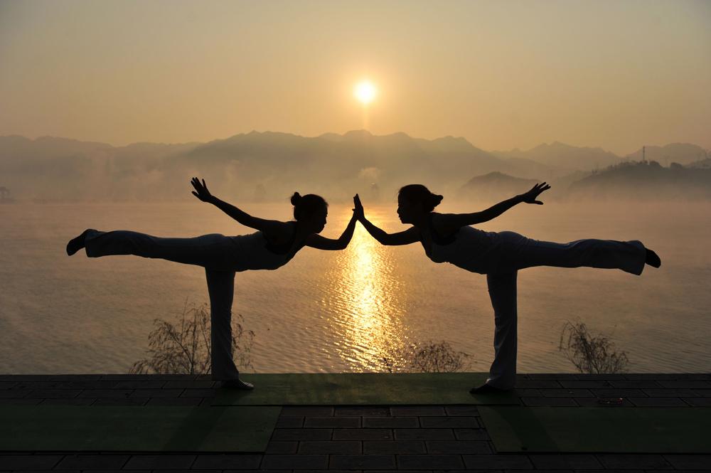 瑜伽风景图片大全