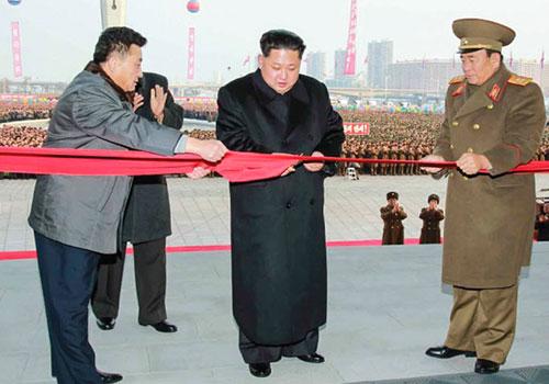 金正恩新年出席朝鲜科学技术殿堂竣工仪式