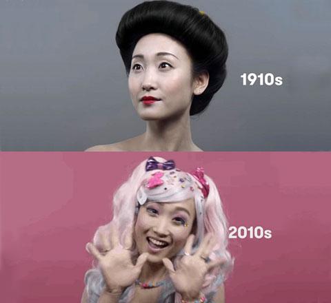 日本百年粧容發展史 藝妓粧和原宿粧都有