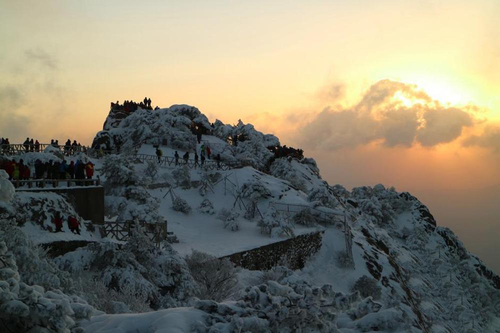 暴雪,黄山风景区