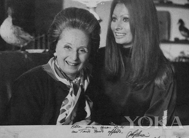 聞名後世的米蘭女裁縫Biki(左)與索菲亞-羅蘭