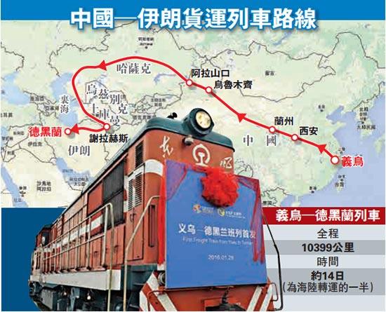 火车从义乌出发后,途经杭州,合肥,西安,兰州,乌鲁木齐等国内城市,之后