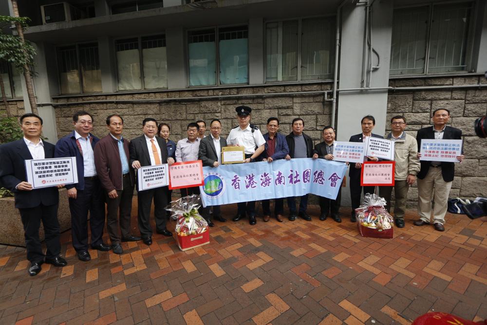 全国政协委员,香港海南社团总会署理会长李文俊,联同该会常务副会长韩