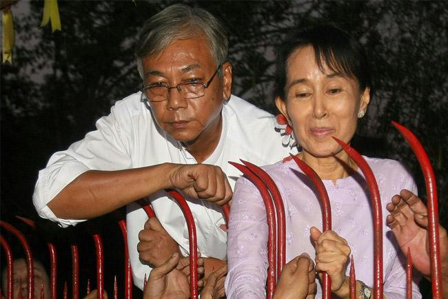 昂山司机成为缅甸总统候选人 几乎确定当选