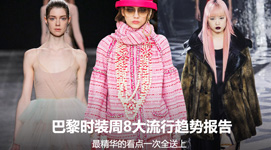 巴黎时装周8大流行趋势报告 最精华的看点一次全送上
