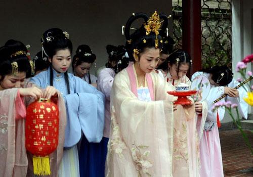 春分节气福州再现古老花朝祈福仪式