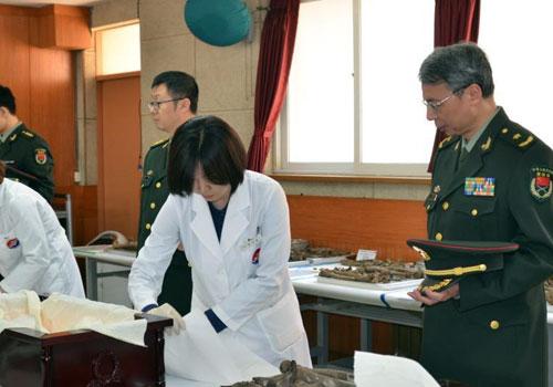 第三批在韓中國志願軍烈士遺骸裝殮儀式舉行
