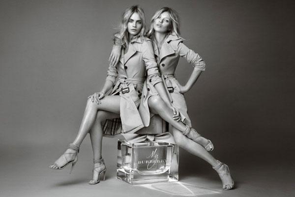 "Cara Delevingne和Kate Moss是""My Burberry""香水的上一任代言人"