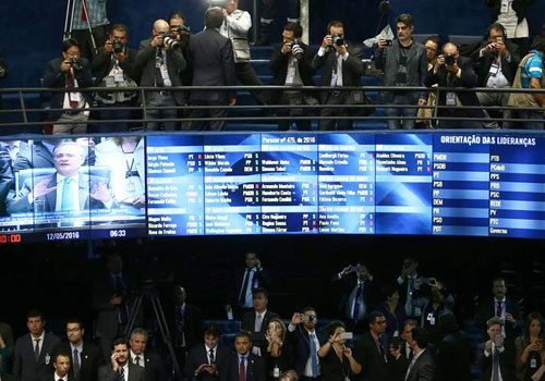 巴西参议院通过总统弹劾案