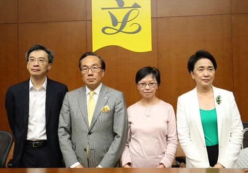 4名反對派議員與張德江會面