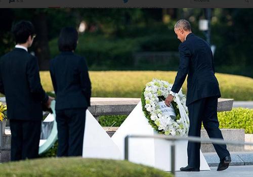 奥巴马抵达广岛进行访问