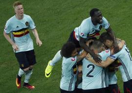 小组赛:比利时胜瑞典