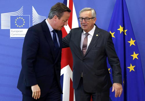 """卡梅伦:脱欧后欧盟需与英国有""""更紧密""""关系"""