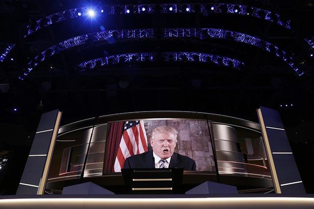 """721票""""叛变"""" 特朗普成为共和党总统候选人"""
