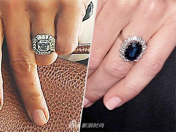 凯特王妃妹妹嫁入豪门 大钻石PK戴妃蓝宝石