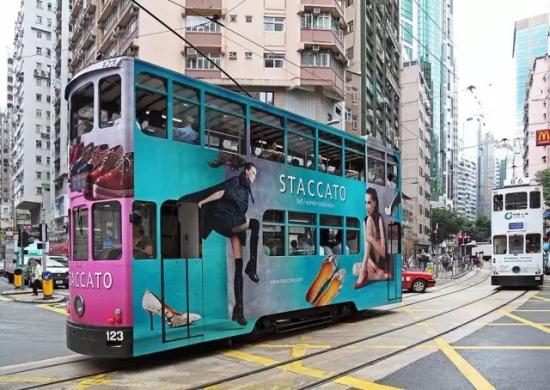 叮叮车穿梭于香港街区.资料图