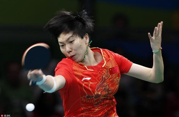 李曉霞在比賽中十分投入