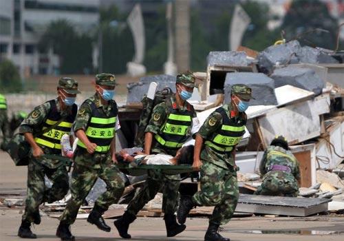 中国公安边防部队应急演练昆明举行