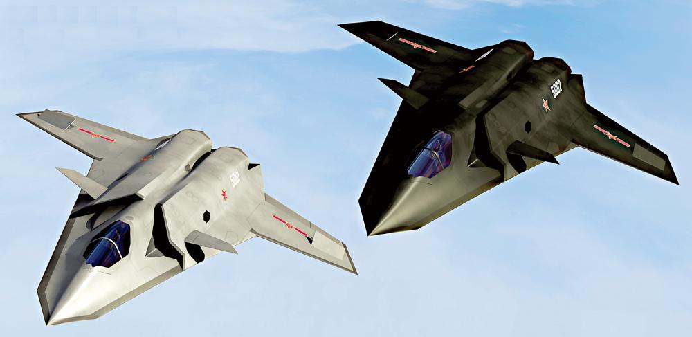 中国研第六代战斗机 高超音速隐身飞行拥激光