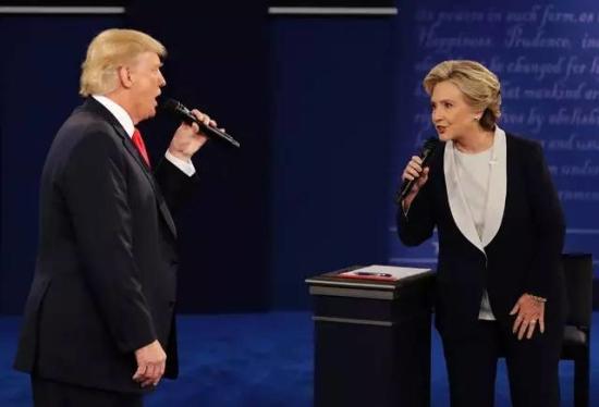 特朗普VS希拉里:這是一組有聲音的圖片