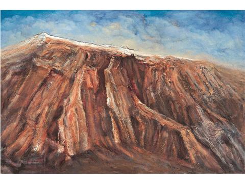 作品名稱:高高紅崖上的流云