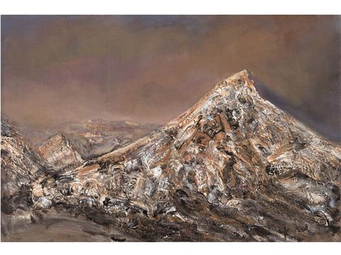 作品名稱:雅丹山峰的意志