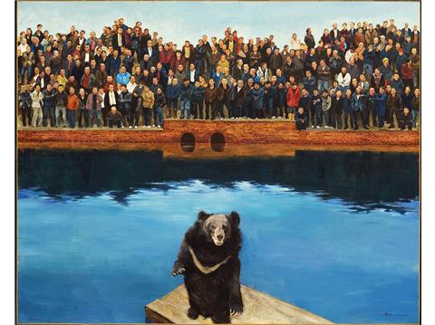 作品名称:人与熊