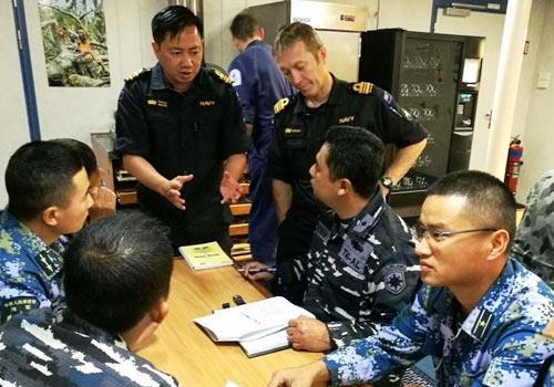 東盟防長擴大會海上安全演習