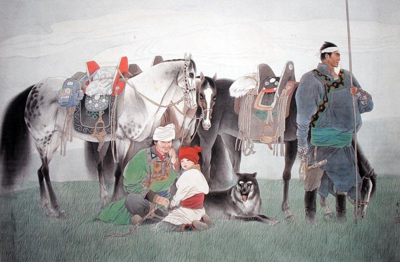 作品名称:《 马背民族 》