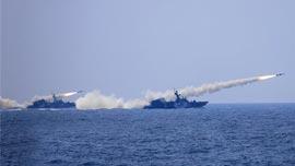 海军网披露黄渤海百舰军演 三大舰队实兵实弹对抗