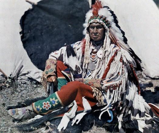 20世纪初,北美印第安人彩色照片