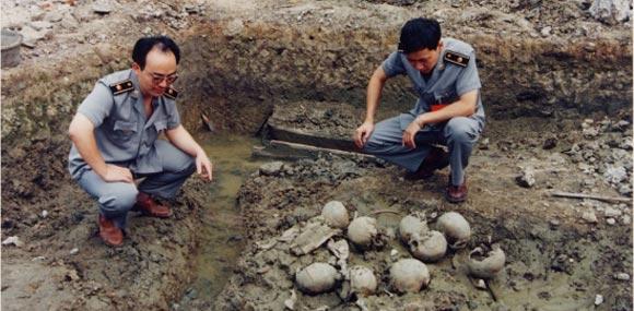 侵华日军兽行添铁证:南京首现人体实验遗骨