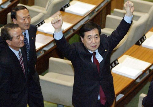 韓國總統朴槿惠彈劾案獲國會通過