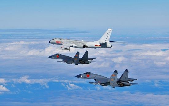 中國空軍例行訓練遭日近距射干擾彈挑釁