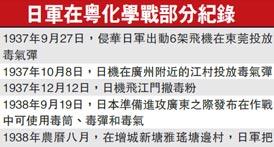 日军在粤化学战部分纪录