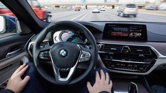 自动驾驶科技集成品 宝马5系原型车ces发布