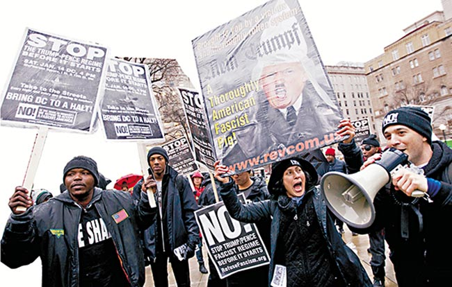 """就职典礼周五举行 全美示威反""""特朗普式仇恨"""""""